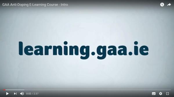 GAA Anti-Doping Course (2016)